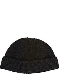 Lanvin English Rib Knit Beanie Black