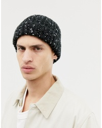 ASOS DESIGN Fisherman Beanie In Black With Texture Detail