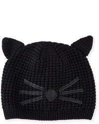 Karl Lagerfeld Girls Knit Cat Beanie Black