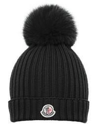 Moncler Girls Wool Pompom Beanie Hat