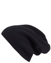 Halogen slouchy cashmere beanie black medium 840465