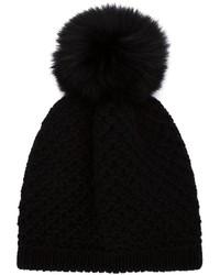 Inverni Coyote Fur Pompom Beanie