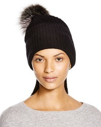 Inverni Knit Beanie With Two Tone Fox Fur Pom Pom Bloomingdales