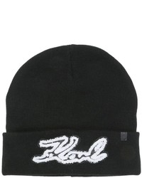 Karl Lagerfeld Signature Knit Beanie Hat