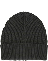 Maison Margiela Knit Wool Beanie Black Hat