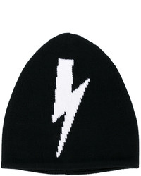 Neil Barrett Lightning Bolt Beanie Hat