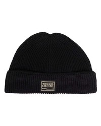 VERSACE JEANS COUTURE Logo Patch Detail Beanie