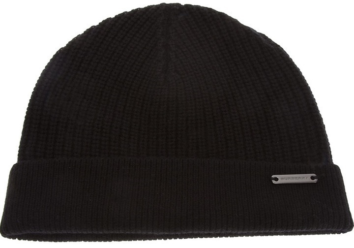 Burberry London Ribbed Trim Beanie