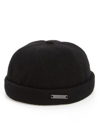Crown Cap Melton Wool Blend Knit Cap