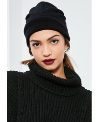 Missguided Black Classic Beanie