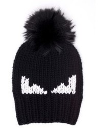 Fendi Monster Fur Pom Wool Hat