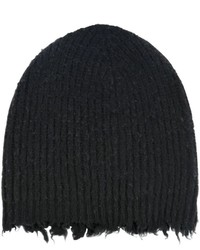 MSGM Distressed Wool Blend Beanie Hat