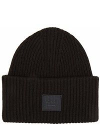 Acne Studios Pansy S Face Ribbed Knit Beanie