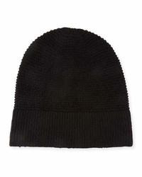 Rebecca Minkoff Garter Stitched Headphone Beanie Hat Black