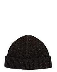 Lanvin Rib Knit Cashmere Beanie Dark Grey