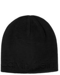 Calvin Klein Rib Knit Embossed Beanie