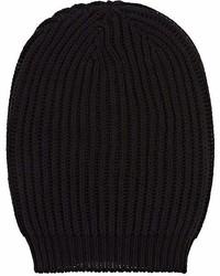 Rick Owens Rib Knit Silk Beanie