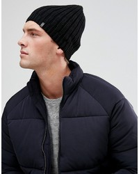 Esprit Ribbed Beanie In Black