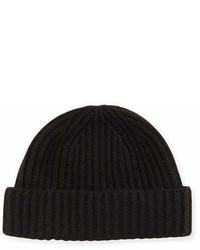 Portolano Ribbed Cashmere Beanie Hat