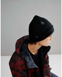 Volcom Snow Sweep Lined Beanie In Black