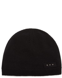 John Varvatos Star Usa Skullhat Whipstitch Wool Beanie