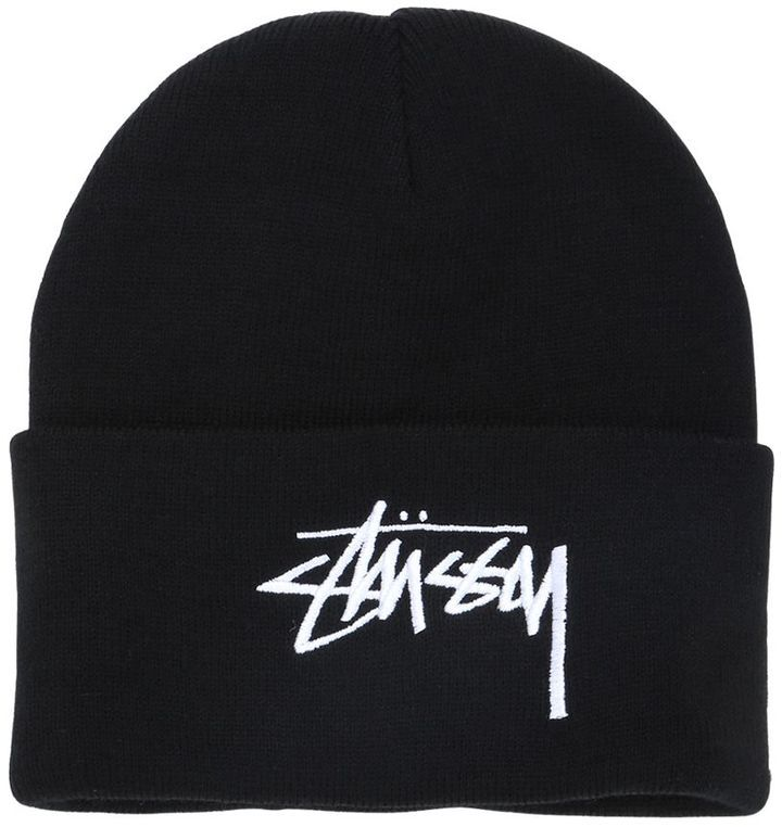 ... Stussy Embroidered Logo Beanie Hat 798be802a6f