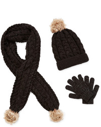 JCPenney Toby Toby Beanie Scarf And Gloves Girls 7 16