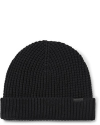 Burberry Waffle Knit Wool Blend Beanie