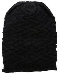 D&Y Zigzag Rolled Edge Beanie Hat