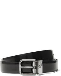 Dolce & Gabbana 25cm Black Polished Leather Belt