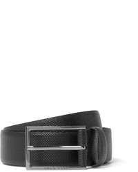 Hugo Boss 35cm Black Carmello Textured Leather Belt