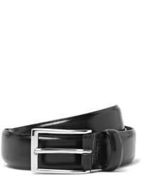 J.Crew 3cm Black Glossed Leather Belt