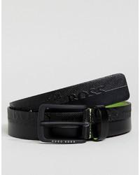 Boss Green By Hugo Boss Logo Belt Black