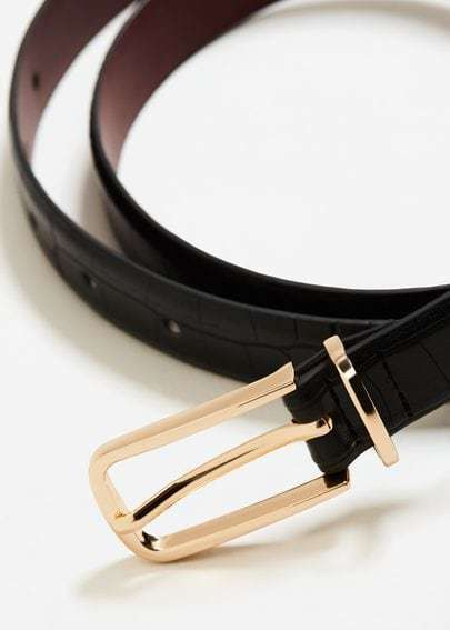 Mango Crocodile Effect Belt