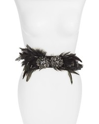 Tasha Crystal Feather Stretch Belt