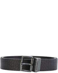 Diesel Embossed Crocodile Effect Belt