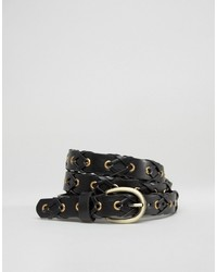 Glamorous Eyelet And Braid Detail Belt