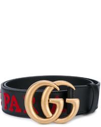 Gucci Laveugle Par Amour Embroidered Double G Belt