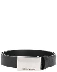 Emporio Armani Logo Plaque Belt