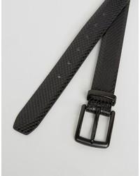 Ben Sherman Skinny Embossed Belt Black