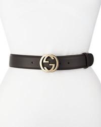 Gucci Wide Adjustable Gg Buckle Belt
