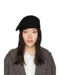 LAUREN MANOOGIAN Black Alpaca Beret