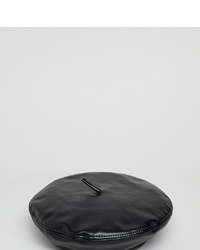 My Accessories Black Pu Beret