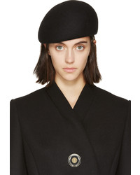Stella McCartney Black Wool Beret
