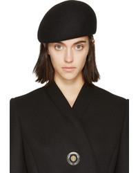 Stella McCartney Black Wool Beret