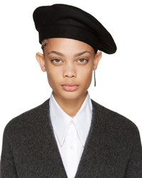 CLYDE Black Wool Beret