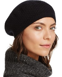 C By Bloomingdales Waffle Knit Cashmere Beret 100%