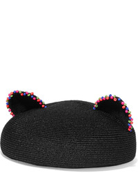 Eugenia Kim Caterina Beaded Woven Hemp Beret