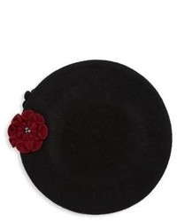 Collection 18 Floral Wool Beret