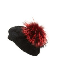KYI KYI Genuine Fox Beret